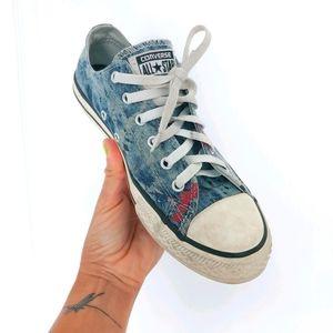 Converse All Stars paint splatter design